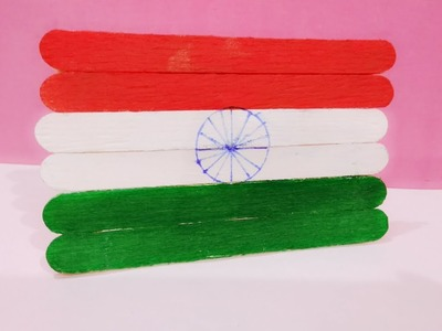 Republic Day Crafts | Independence Day Crafts | How to Make Popsicle Sticks Indian Flag