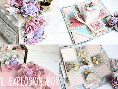 Romantic DUAL Explosion Box Love Themed Tutorial | How To Do | Instructions