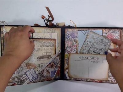 "Scrapbook Handmade Travel Mini Album 8.66"" x 8.66"" #25 *SOLD*"
