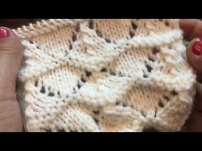 Shell Stitch in Lace Pattern - Lubi's Heavenly Knitting