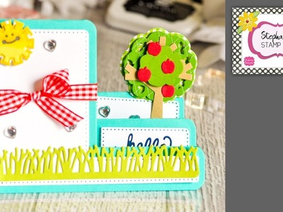 Stephanie's Stamp Pad #90 - How to Make an Apple Tree Step-up Card
