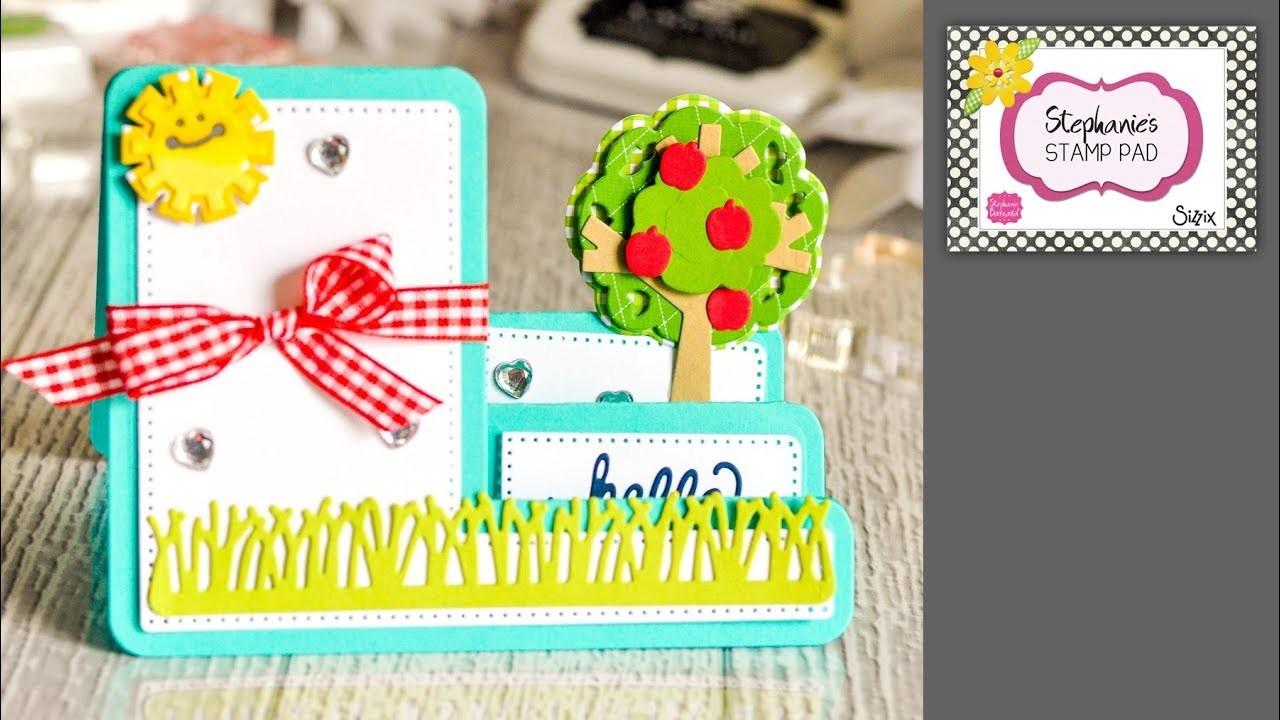 Stephanie's Stamp Pad #90 - How to Make an Apple Tree Step-up Card