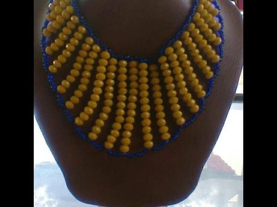 The step on how to make this necklace bead