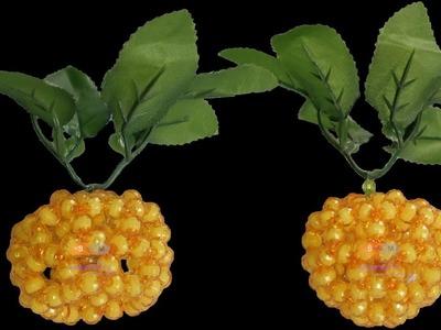 পুতির কমলা এবং মাল্টা. How to make Beaded Orange and Sweet Orange 2 in 1. Beaded Fruits