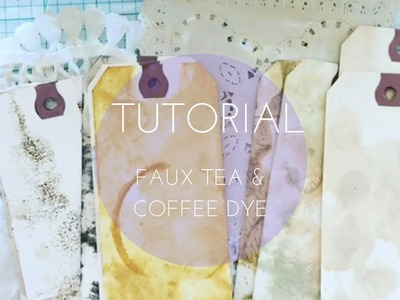 Tutorial -  How to faux tea and coffee dye ephemera for junk journals using distress stains
