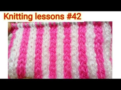 Two Colours || Vertical Strips || Knitting design || Beautiful || and || Easy to make