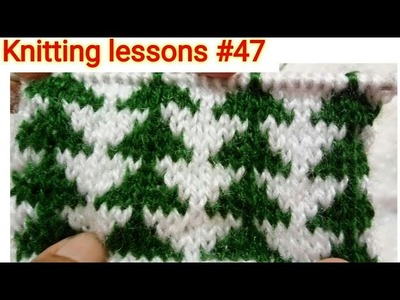 Two Colours || Vertical Triangles || Knitting design || Easy to make
