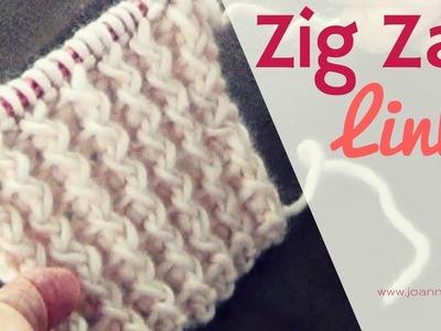 Zig Zag Links Knitting Pattern | Rib Stitch Knit | Zig Zag Knitted Stitches
