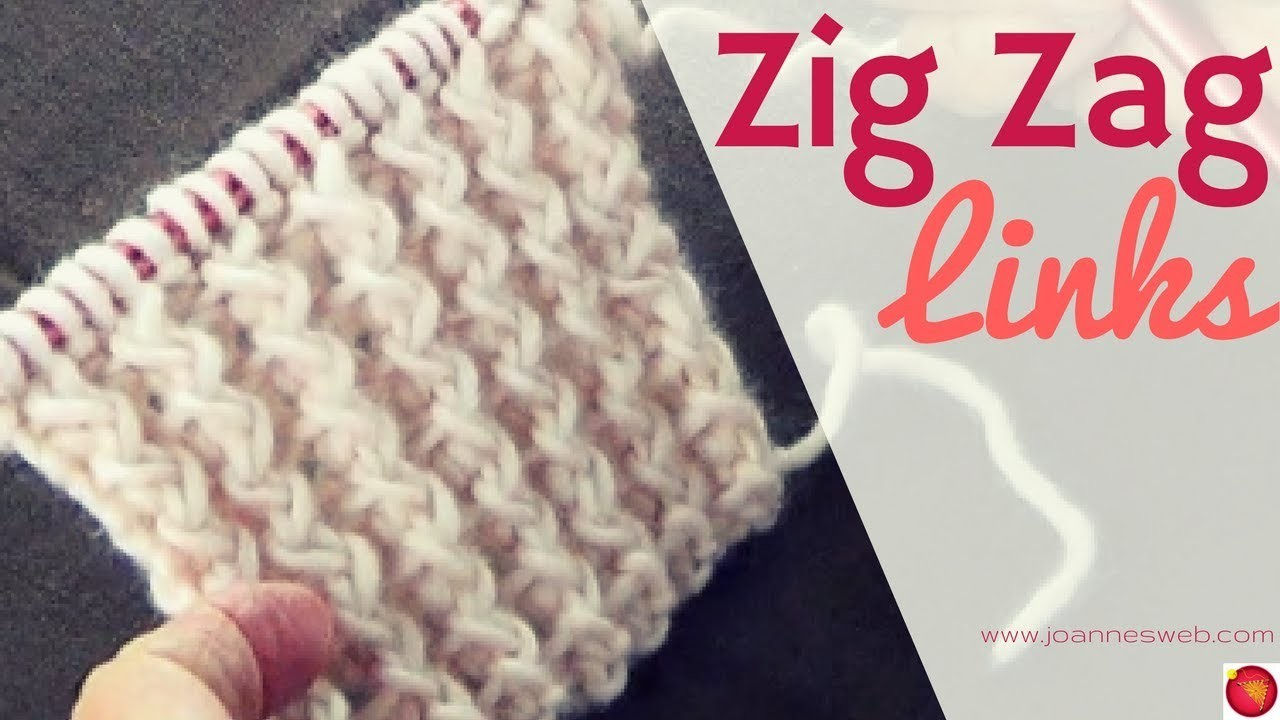 Easy Zig Zag Knitting Pattern : Zig zag links knitting pattern rib stitch knit