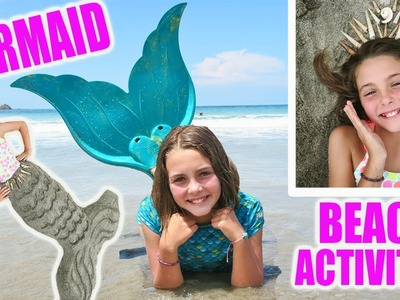 3 Best Real Mermaid Beach Activities | How To Mermaid Tail Crown With Ava | Kids Cooking and Crafts