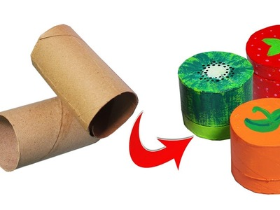 3 Minute Crafts. DIY Miniature Fruit Boxes out of toilet paper roll crafts. Best out of waste