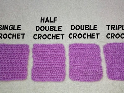 Basic stitches of crochet for beginners
