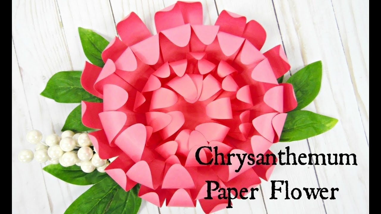 Chrysanthemum Paper Flowers- How to make paper flowers