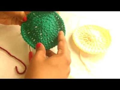 Crochet flat circle-Crochet class in Kannada