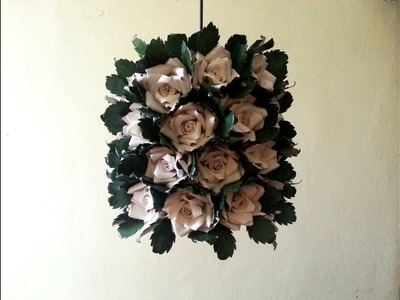 DIY# 62 CHANDELIER MADE OF RECYCLED PAPER CUPS