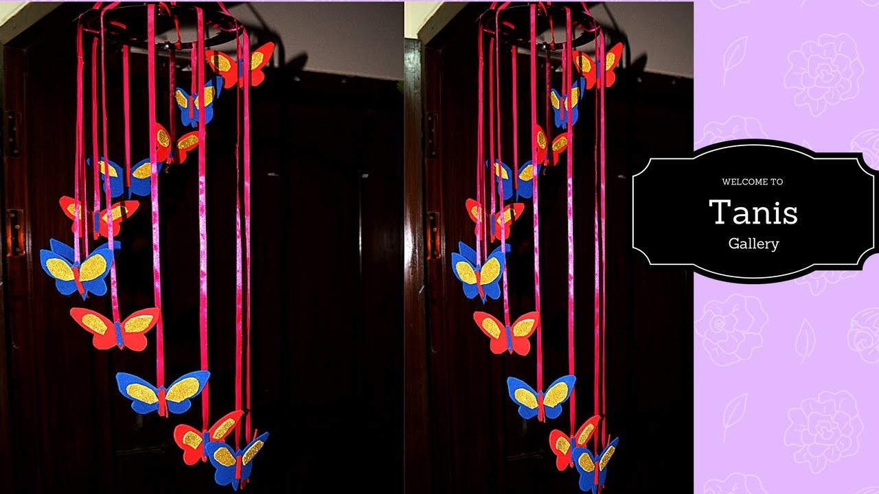Diy butterflies wall room decor easy paper butterfly for Room decor using paper