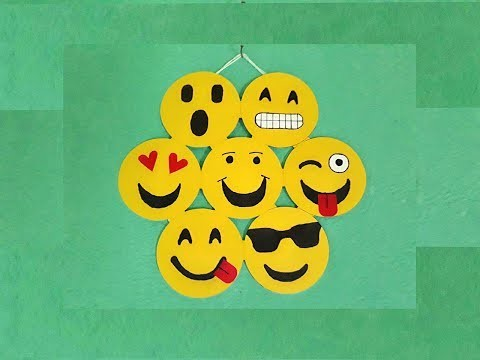 DIY Emoji wall hanging, How to make emoji or smily wall hanging by uses paper in few minutes.