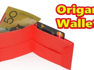 DIY : How to make a paper wallet |Easy Paper Wallet | Origami wallet  Learn Origami