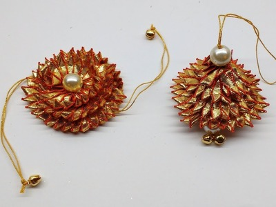 Diy How to make Easy Gota (golden lace) Rakhi and Lumba at home