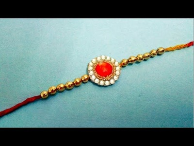 DIY :: How to make Rakhi at Home !! DIY Rakhi Week :: Design 1