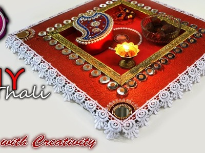 DIY:How to make Raksha bandhan thali. Pooja thali | Handmade pooja thali | Art with Creativity 239