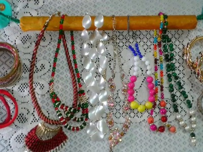 Diy Necklace Holder. How to Make Hair Bow. Bracelet Holder.Jewelry Organizer Holder in Hindi