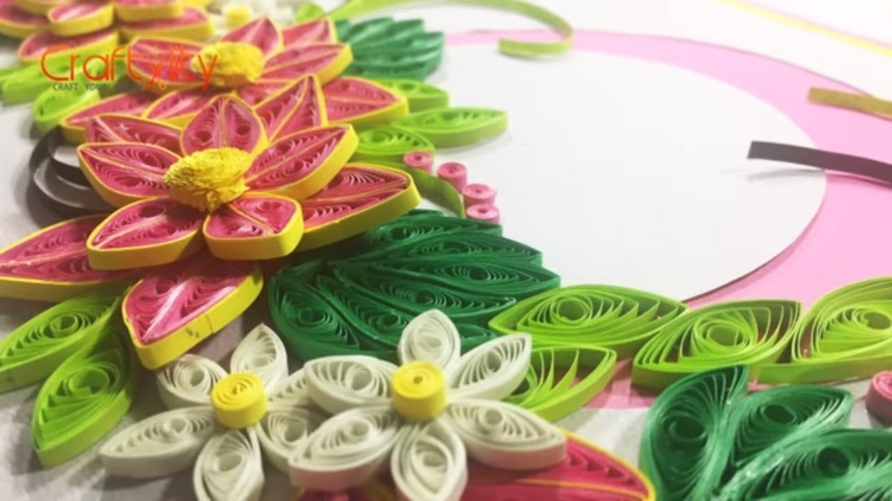 Diy Paper Quilling Flower Card How To Make Paper Quilling Flower