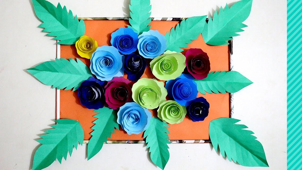 DIY Paper Rose Flower Backdrop | how to attach paper flowers to backdrop | flower backdrop wedding