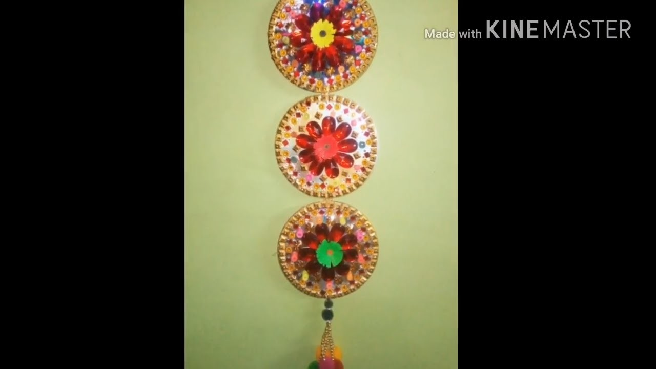 DIY, WALL HANGING, How to make wall hanging with cd, cd wall decor