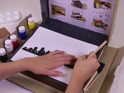 Dremel Hatch Project Kits Skyline Pallet Art  - How to Use Transfer Paper