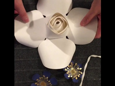FREE Rose Bud tutorial. Rose center tutorial. How to make rose paper flower.