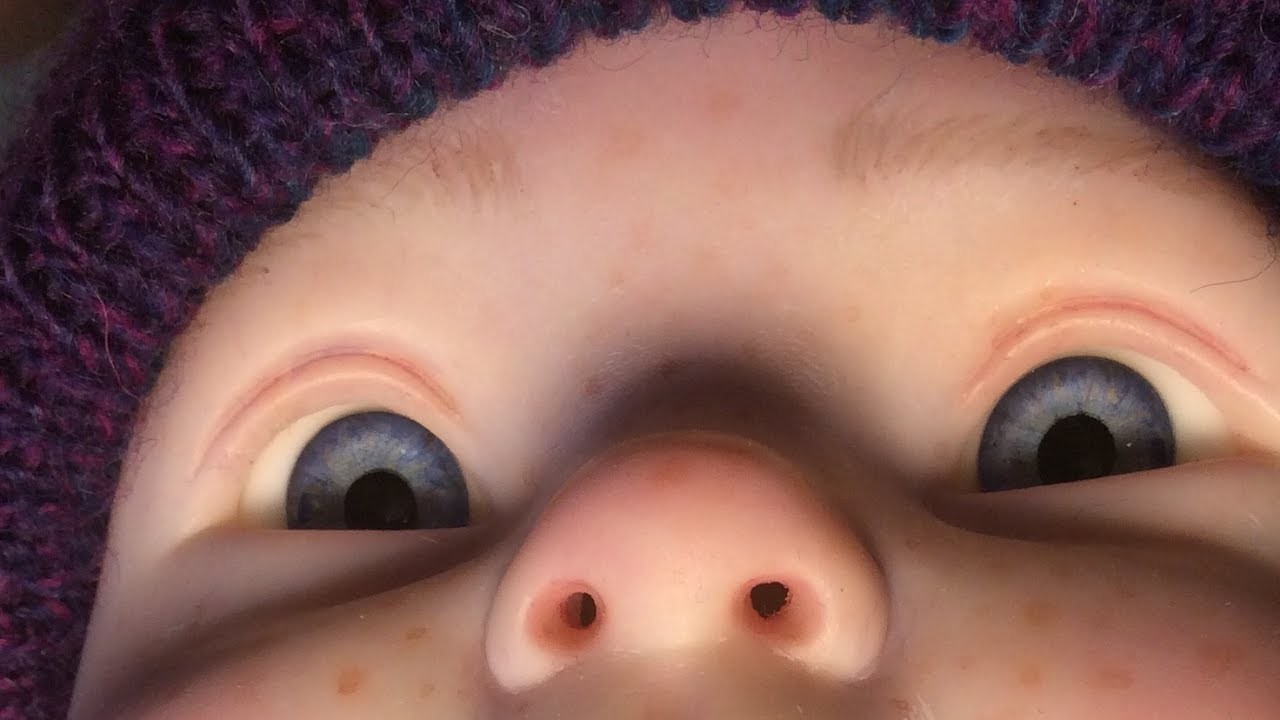 ????How I removed the nostrils on reborn baby dolls nose ???? No electric drill or burning diy how to
