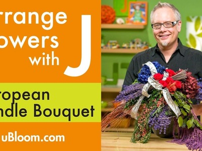 How to create a European Bundle Arrangement with Preserved Flowers!