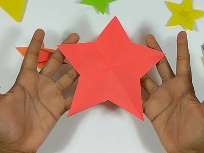 How to Cut a Perfect Star with ONE CUT from a Square Paper - Origami For Paper and Fabric Scrapbooks