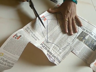 How to do fasion designer mega sleeve cutting of 38'' blouse