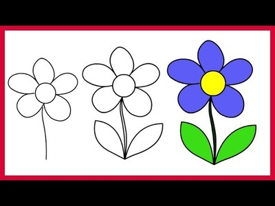 How to Draw a Simple Flower – Easy Step by Step for Kids and Beginner