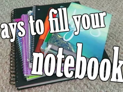 How To Fill Your Empty Notebooks