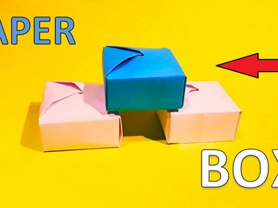 How to fold a paper box (No tape) - Origami