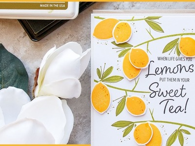 How To: Lemon Tree Branch PATTERN CARD with Yana
