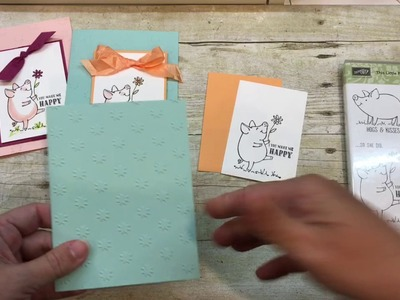 How to make 5 minute quick color piggies with Stampin Up's This Little Piggy Stamp Set