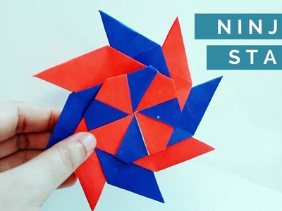 How to make a cool ninja star out of paper in the easiest way ???? Paper shuriken Origami ⚔ Weapon DIY