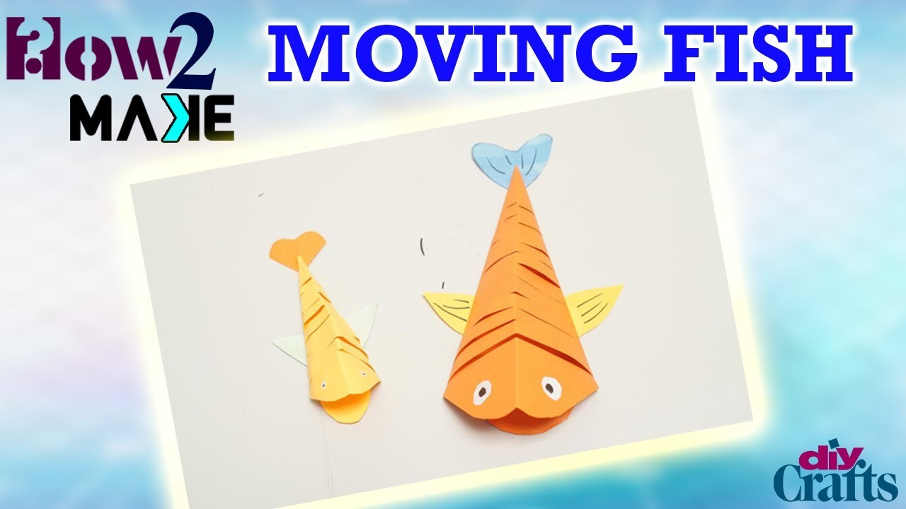 How to make a moving fish with waste paper at home
