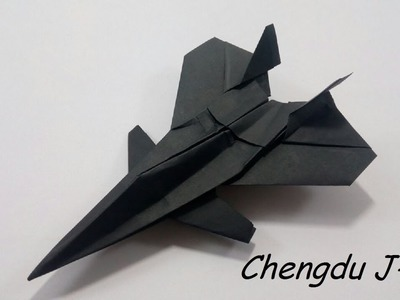 How To Make a Paper Airplane - Easy Paper Plane Origami Jet Is COOL   Chengdu J-20
