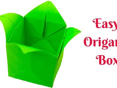 How to make a paper box easy step by step  Easy Origami paper box for Beginners making - Origami Box