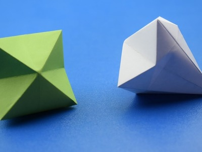 How To Make a Paper Diamond |Origami| DIY CRAFT IDEAS