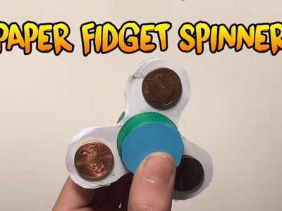 how to make a paper fidget spinner step by step