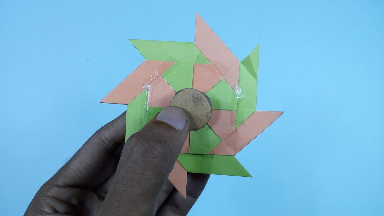 How To Make A Paper Fidget Spinner WITHOUT BEARINGS Fidget Spinner Making Trick Without Bearings
