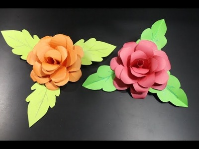 How To Make A Paper Rose Very Easily | DIY- PAPER CRAFTS
