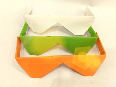 How to make a paper sunglasses - Origami sunglasses
