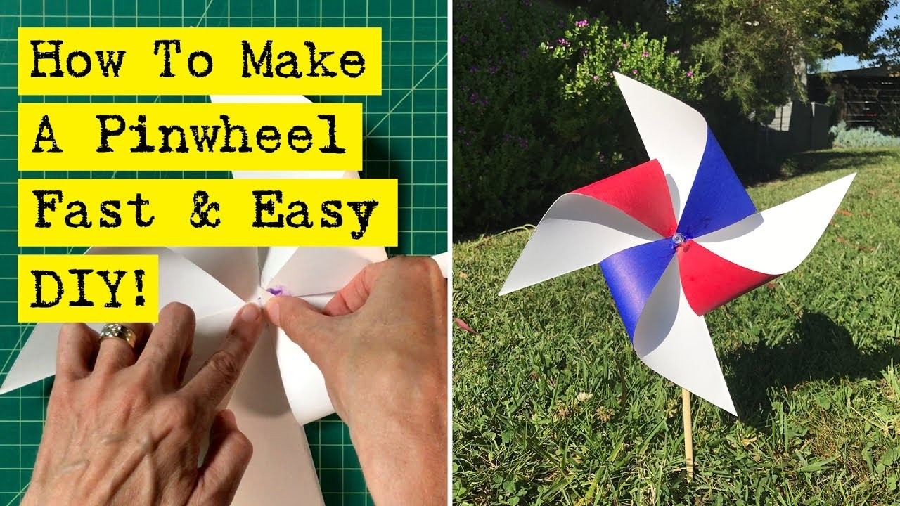 How To Make A Pinwheel - Fast & Easy!